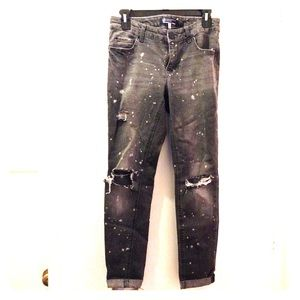 Boom boom jeans factory distressed size 7 grey